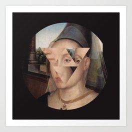 Puzzle face Art Print