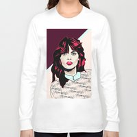 80s Long Sleeve T-shirts featuring 80s Pink by Anna McKay