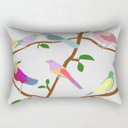 Birds on a tree Rectangular Pillow