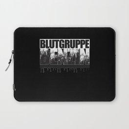 Blutgruppe Benzin - Motorcycle Rider Design Laptop Sleeve