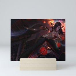 Warring Kingdoms Katarina League of Legends Mini Art Print