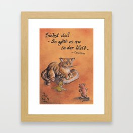GrimmSeries2 - Cat and mouse Framed Art Print