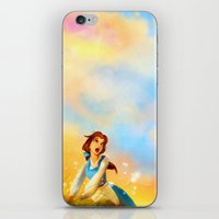alicexz iPhone & iPod Skins featuring This Provincial Life by Alice X. Zhang