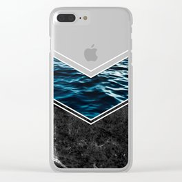 Striped Materials of Nature IV Clear iPhone Case