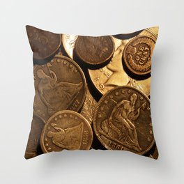 Cool Old Coins Throw Pillow