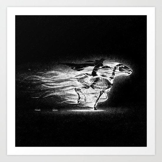 Drawlloween 2013: Skeleton Art Print