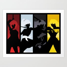 Silhouetted Huntresses Art Print