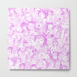 Pastel Ahegao Collage Metal Print