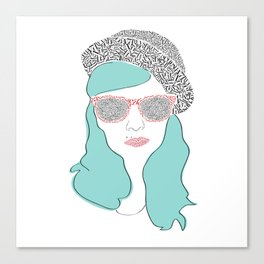 Typographic portrait Canvas Print