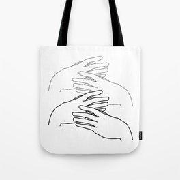 caressing hands Tote Bag