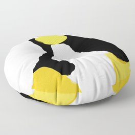 Linux Tux primitive painting Floor Pillow