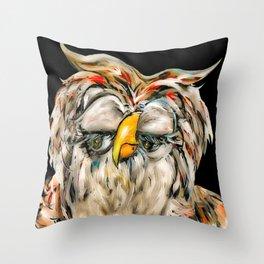 Flirtatious Owl Throw Pillow