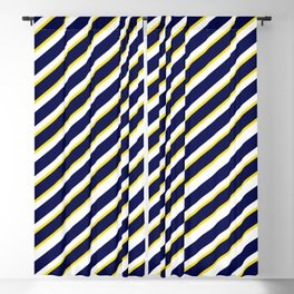 TEAM COLORS 1…Navy , yellow , white Blackout Curtain
