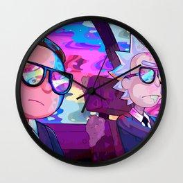 Rick and Morty colors Wall Clock