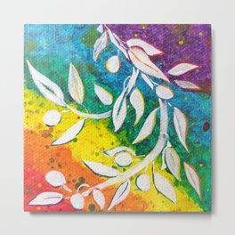 Leaves on the World Tree: The Albanian Olive Metal Print