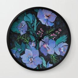 Hellebore Bouquet Wall Clock