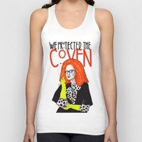coven Tank Tops featuring WE PROTECTED THE COVEN by Robert Red ART