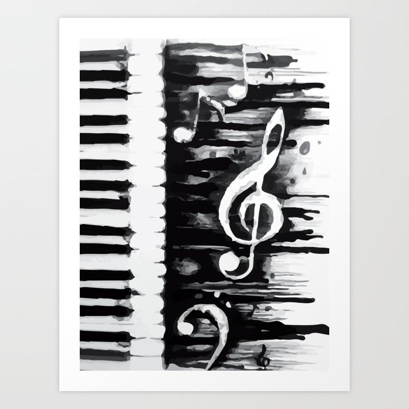 Abstract music art print