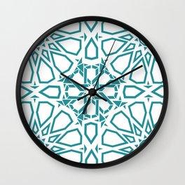 Moroccan Mosaic Blue Wall Clock
