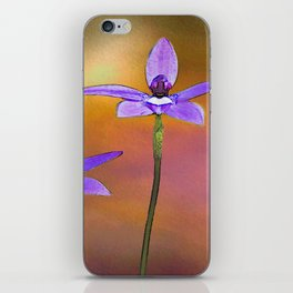 Australian Wax-lip Orchid iPhone Skin