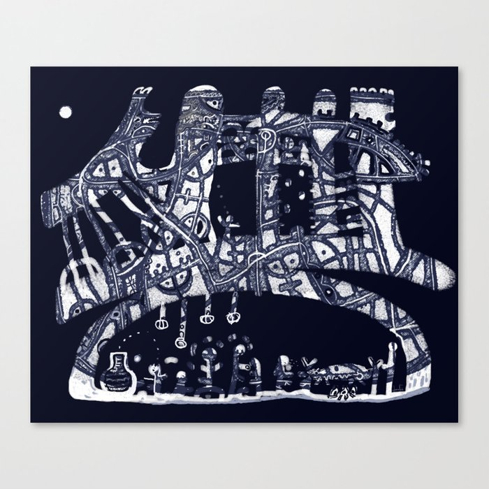 Argo riconosce Odisseo Canvas Print