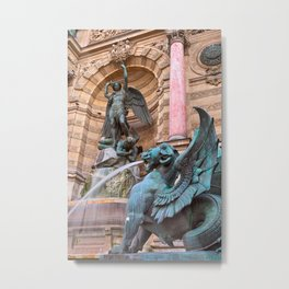 Saint-Michel Fountain Metal Print