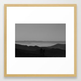 Alps Mountains Framed Art Print