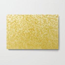 Pixels Gradient Pattern in Yellow Metal Print