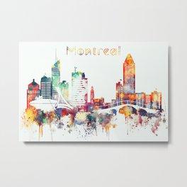Montreal City Skyline Metal Print