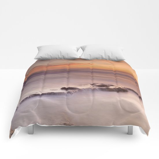Waterfalls on the rocks Comforters