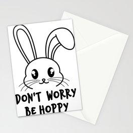 Don't worry bunny hoppy Stationery Cards