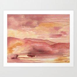 Pink Moment in Ojai Art Print