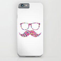 Funny Girly Pink Abstract Mustache Hipster Glasses Slim Case iPhone 6s