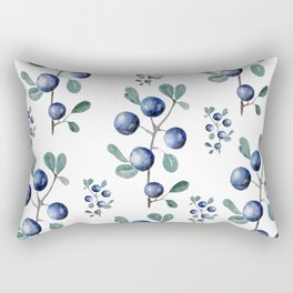 Blackthorn Blue Berries Rectangular Pillow