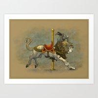 Carousel Chimera Art Print