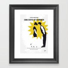 No500 My (500) Days Of Summer minimal movie poster Framed Art Print