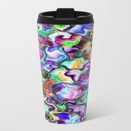 unusual abstract art design background Travel Mug
