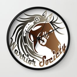 Warrior Society (Horse) Wall Clock