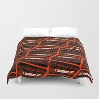return Duvet Covers featuring Return by Gimetzco's Damaged Goods