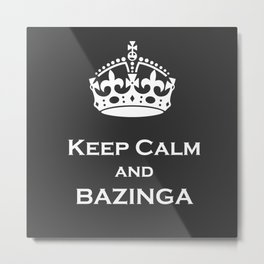 keep calm and... Metal Print