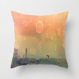 Rain in September Throw Pillow