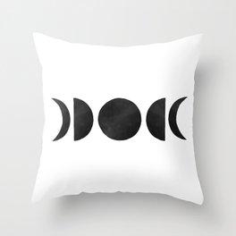 minimalist moon phases Throw Pillow
