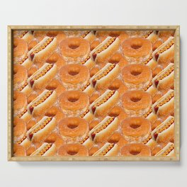 Hot Dogs and Donuts Serving Tray