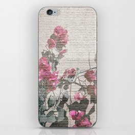 Shabby Chic Style Floral Photo iPhone Skin