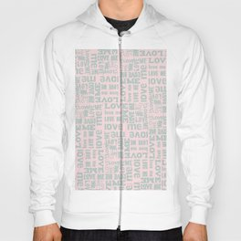 Valentine Love Me Typography Pattern-Mix & Match with Simplicty of life Hoody