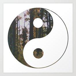 Yin Yang Forest Art Print