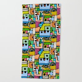 Color Block Collage Beach Towel
