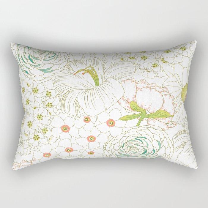 Big Blooms Rectangular Pillow