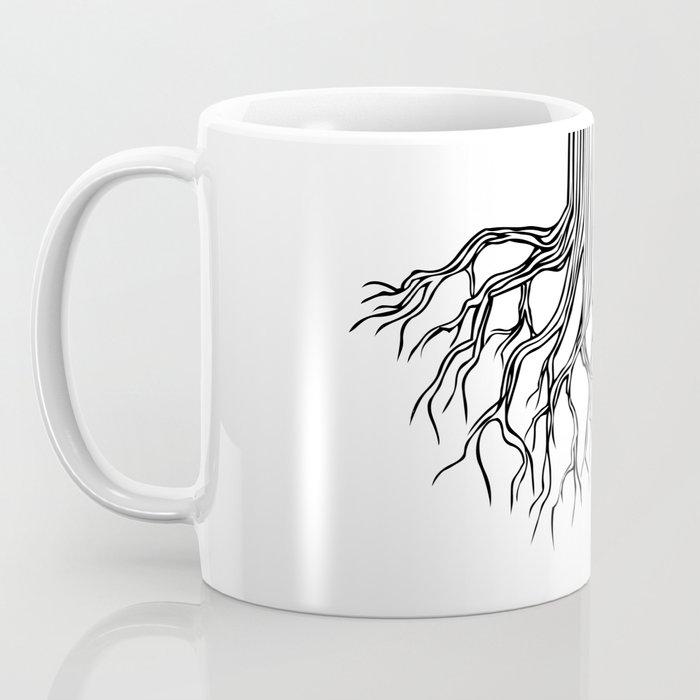 Tree Root Drawing (black on white) Coffee Mug