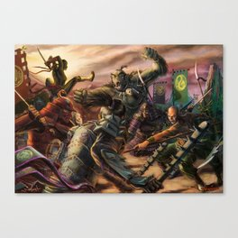 Chaos of Battle Canvas Print